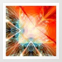 angel Art Prints featuring Angel by Christine baessler