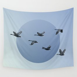 Wild Geese Fly North Wall Tapestry