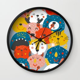 Monsters friends Wall Clock