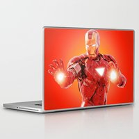 robert downey jr Laptop & iPad Skins featuring Iron Man * by Hands in the Sky