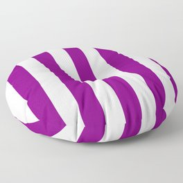 Philippine violet - solid color - white vertical lines pattern Floor Pillow