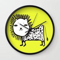 korean Wall Clocks featuring cute korean alphabet animals by lemonluna