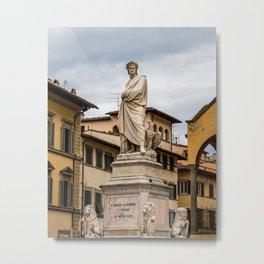Dante Alighieri Statue Metal Print