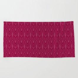 Art Deco in Raspberry Pink Beach Towel