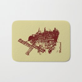 Old Holland windmill Bath Mat