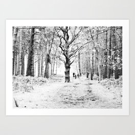 The tree in the clearing Art Print