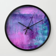 Purple Haze Background Wall Clock