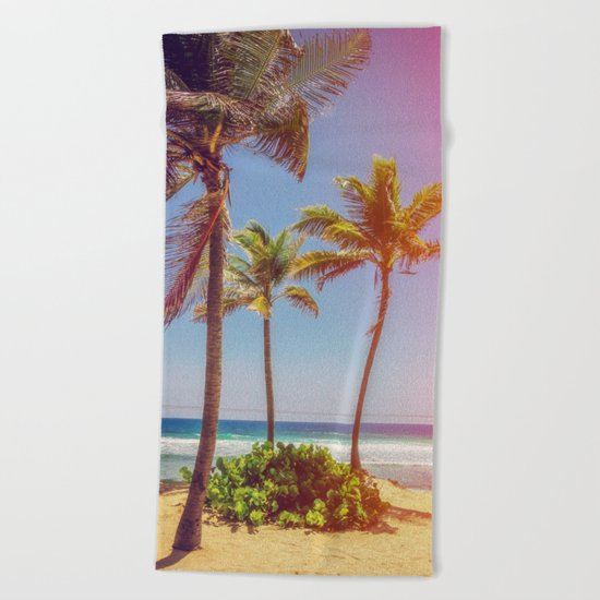 Tropical Breezes Beach Towel