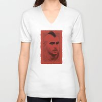 juventus V-neck T-shirts featuring World Cup Edition - Arturo Vidal / Chile by Milan Vuckovic