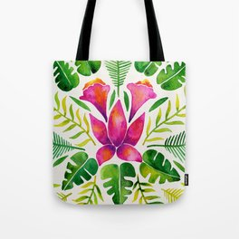 Tropical Symmetry – Pink & Green Tote Bag