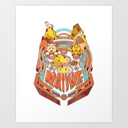 SoCal Pinball Art Print