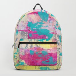 Abstract Mixed Media - Neon Backpack