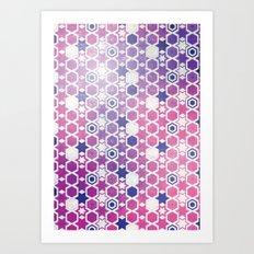 Stars Pattern #001 Art Print