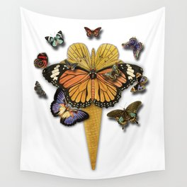 BUTTERFLIES ICE CREAM Wall Tapestry