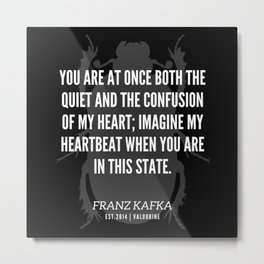 65 |  Franz Kafka Quotes | 190517 Metal Print