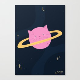 Planet cat-urn Canvas Print
