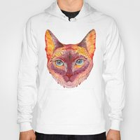cat coquillette Hoodies featuring cat by Ola Liola