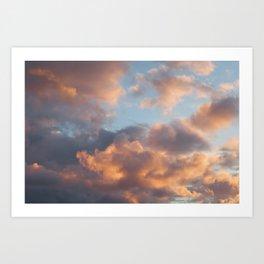 Peach Clouds Kunstdrucke