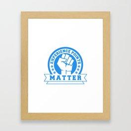 D20 Experience Points Matter Framed Art Print