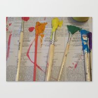 weapons of mass creation Canvas Prints featuring Mass Creation by Labkitty