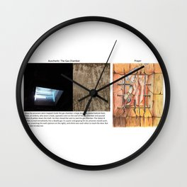 Real vs. Art: Auschwitz - The Gas Chamber - Prayer Wall Clock