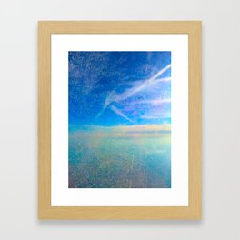 Frosty Window Above Clouds Framed Art Print