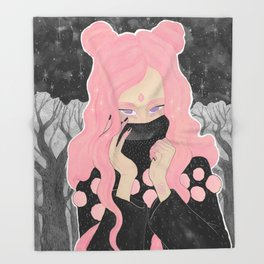 Pink Wicked Throw Blanket