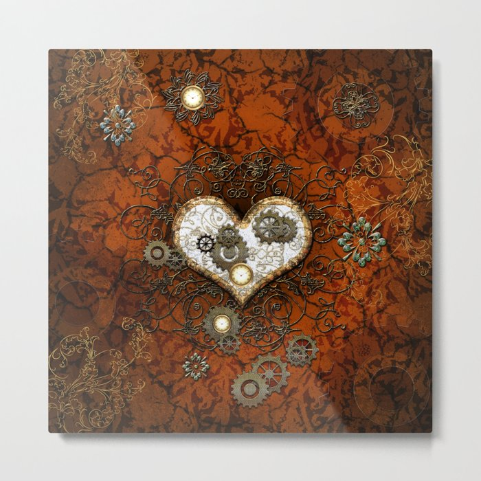 Steampunk, wonderful heart Metal Print