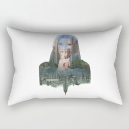 Silence In The City - One Rectangular Pillow