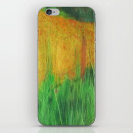 Barbed Wire Poppies iPhone Skin