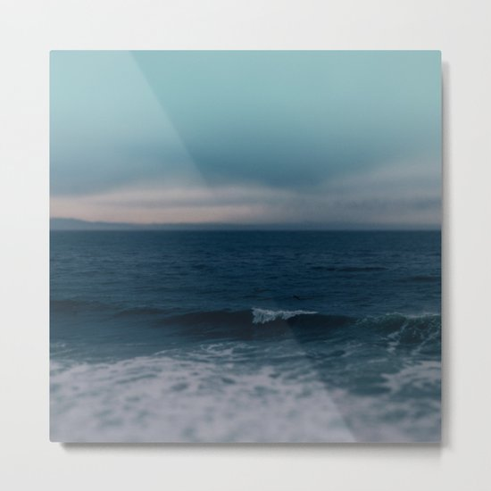Blue California Ocean Metal Print