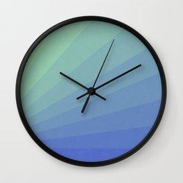 Shades of Blue Water Wall Clock