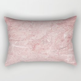 Blush Pink Marble Rectangular Pillow