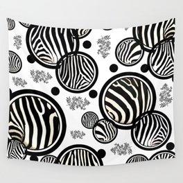 Zebra Circles Wall Tapestry