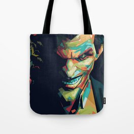 Joker Pop Art Portrait Tote Bag