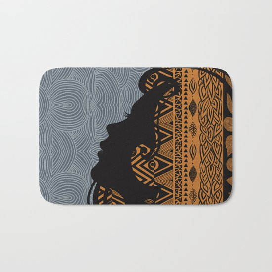 Tribal Dreams by Viviana Gonzalez & Pom Graphic Design Bath Mat