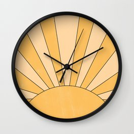 yellow abstract sunrise Wall Clock