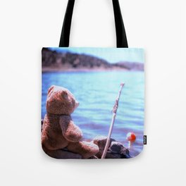 Have you ever seen a bear fishing? Tote Bag