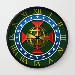 Dom Pedro II Coat of Arms Wall Clock