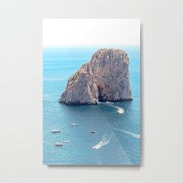 Faraglioni Rocks in Capri Italy Metal Print