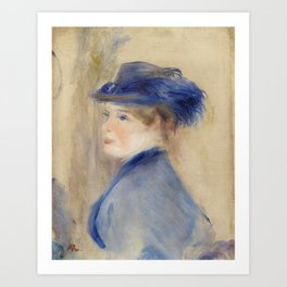 Bust of a Woman (Buste de femme) (1875) by Pierre-Auguste Renoir. Art Print
