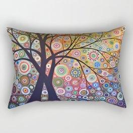 Abstract Art Landscape Original Painting ... Magic Garden Rectangular Pillow