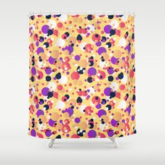 Messy dots Shower Curtain