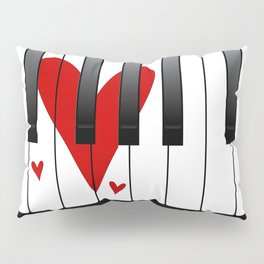Love Piano Pillow Sham