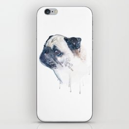 Pug Forest iPhone Skin