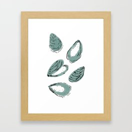 Oysters Framed Art Print