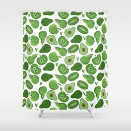 Green fruits and vegetables Shower Curtain