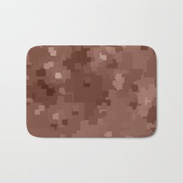 Cognac Square Pixel Color Accent Bath Mat