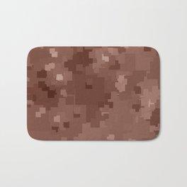 Cognac Square Pixel Color Accent Bath Mat
