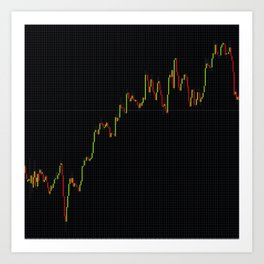Japanese Candlestick Forex Stock Diagram Art Print